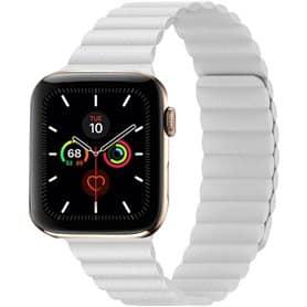 Apple Watch 5 (44mm) Leather loop band - Vit