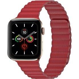 Apple Watch 5 (44mm) Leather loop band - Röd