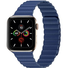 Apple Watch 5 (44mm) Leather loop band - Midnight blue