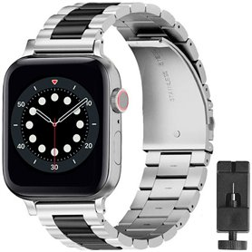 Armband Stainless Steel Apple Watch 6 (40mm) - Silver/black