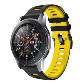 Twin Sport Armband Samsung Galaxy Watch 46 - Svart/gul