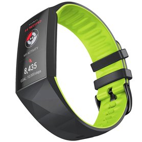Twin Sport Armband Fitbit Charge 3 - Svart/lime