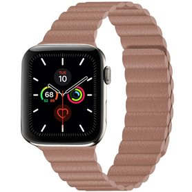 Apple Watch 5 (44mm) Leather loop band - Coffe