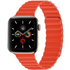 Apple Watch 5 (44mm) Leather loop band - Brown