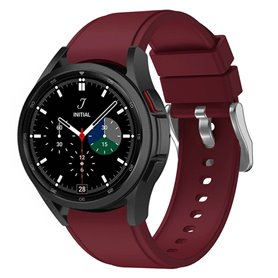 Silikonband Samsung Galaxy Watch 4 Classic (42/46mm) - Weinrot