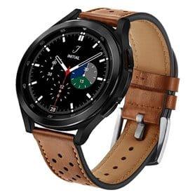 Armbånd lær Samsung Galaxy Watch 4 Classic (46mm) - Brun