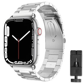 Armband Stainless Steel Apple Watch 7 (45mm) - Silver