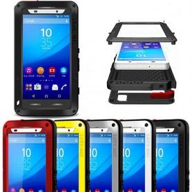 LOVE MEI Powerful Sony Xperia Z3+ mobilskal skydd metall