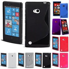 S Line -silikonikotelo Nokia Lumia 720 -puhelimelle